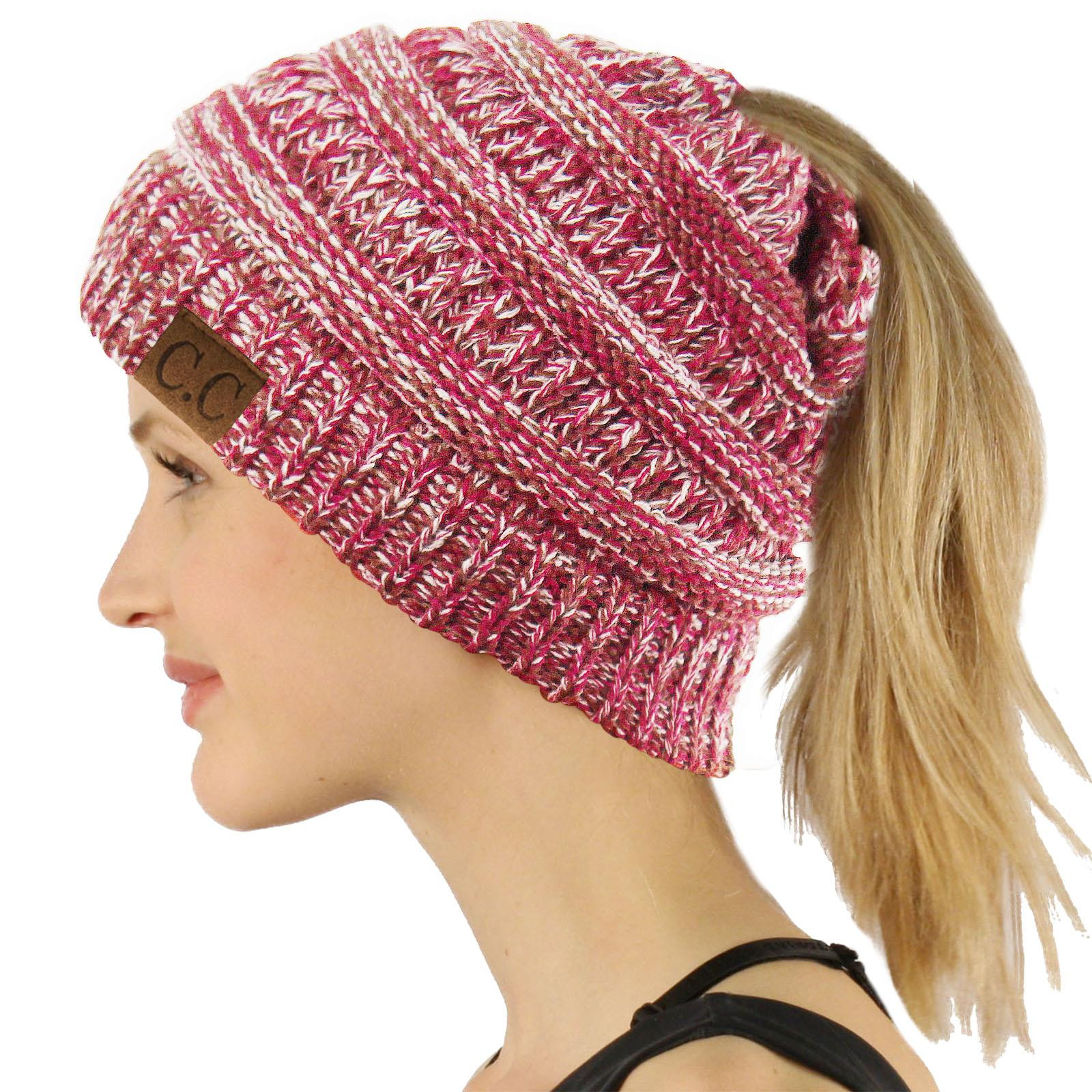 Messy Bun Beanie Hat New Cc Beanietail Messy High Bun Ponytail Stretchy Knit Beanie Of Brilliant 47 Photos Messy Bun Beanie Hat