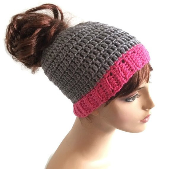 Messy Bun Hat Beautiful Crochet Messy Bun Hat Creatys for Of Awesome 43 Pics Messy Bun Hat