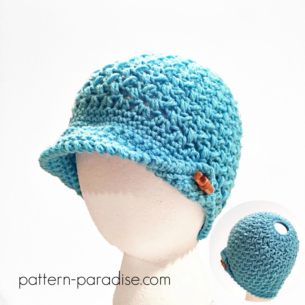 Crochet Pattern Bean Town Beanie & Messy Bun Hat