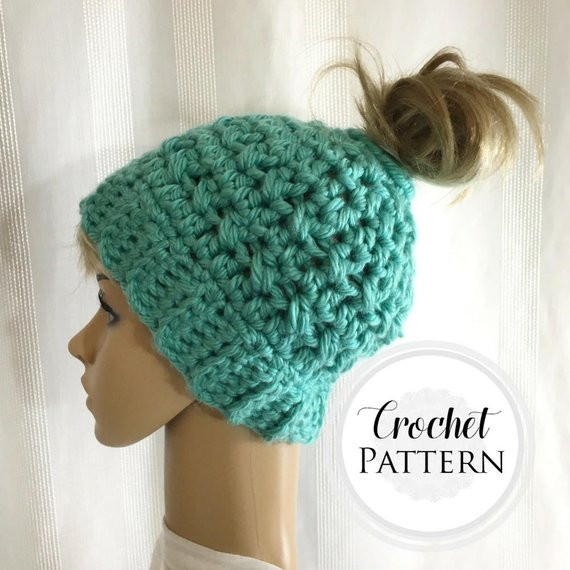 Messy Bun Hat Crochet Pattern Elegant Messy Bun Hat Crochet Pattern Pattern for Crochet Ponytail Of Amazing 47 Images Messy Bun Hat Crochet Pattern