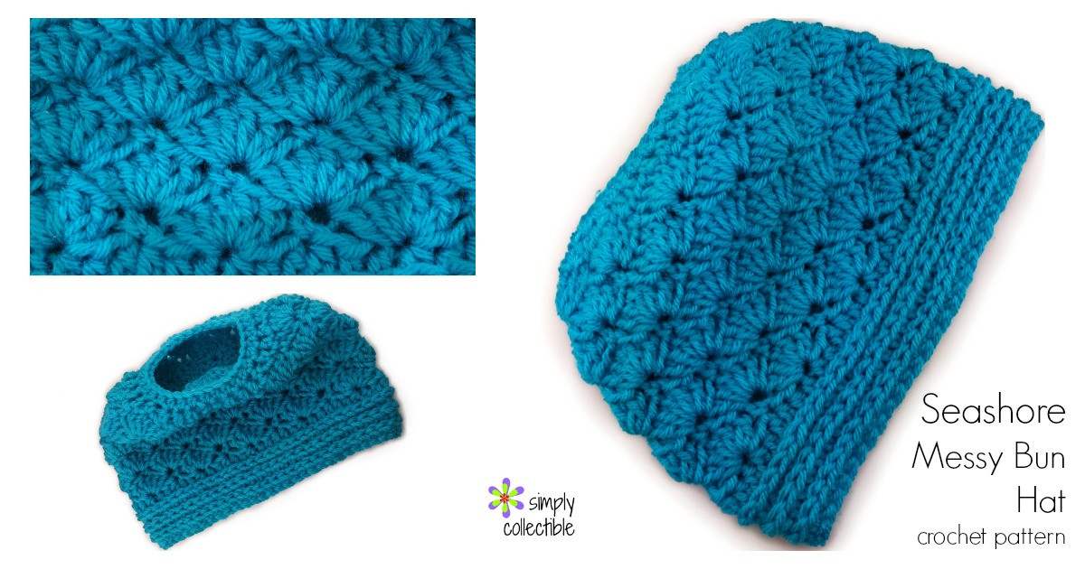Messy Bun Hat Crochet Pattern New Seashore Messy Bun Hat 2 In1 • Simply Collectible Of Amazing 47 Images Messy Bun Hat Crochet Pattern