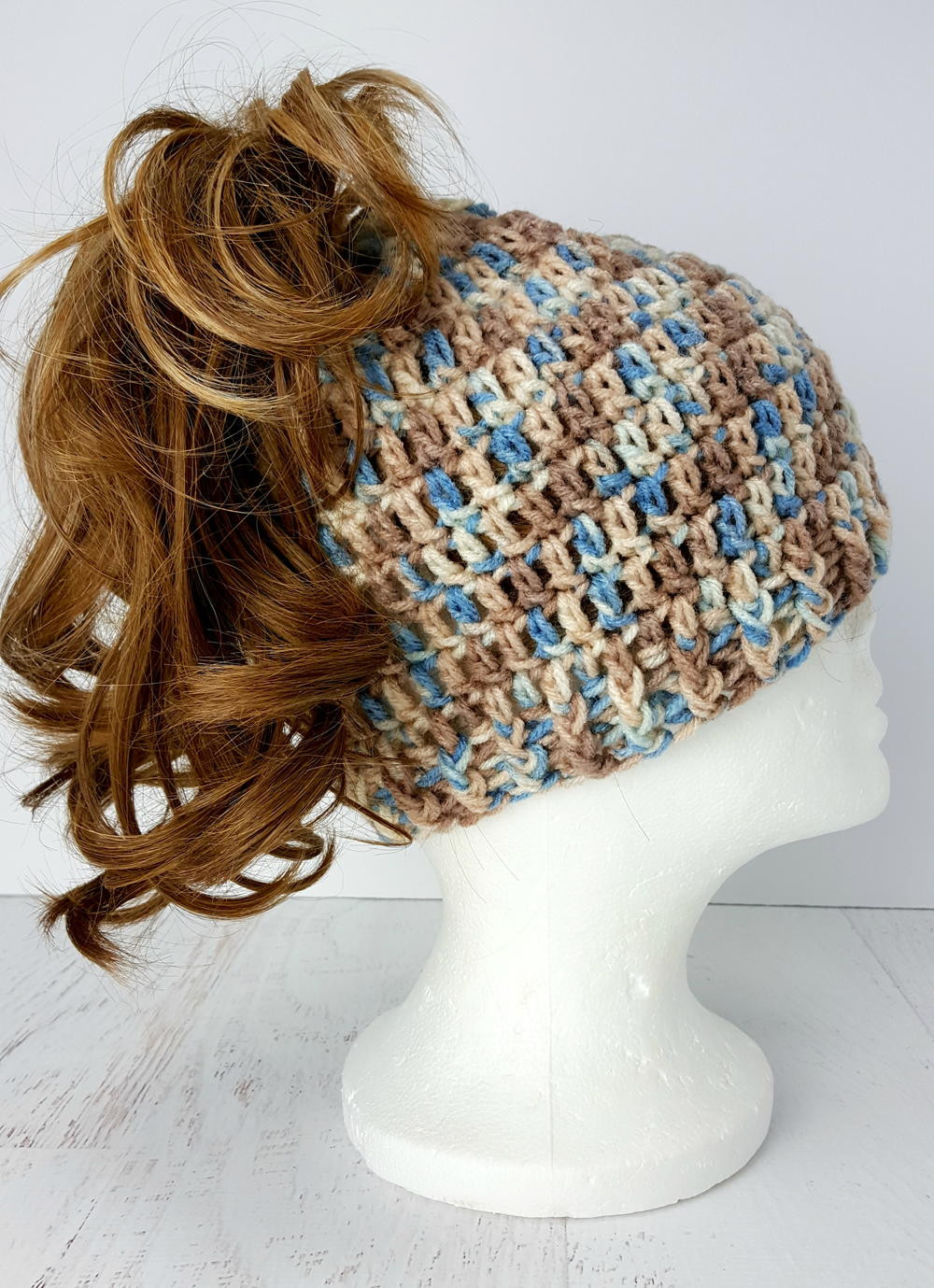 "Messy Bun Hat Crochet Pattern Unique Easy to Crochet ""messy Bun"" Hat Of Amazing 47 Images Messy Bun Hat Crochet Pattern"