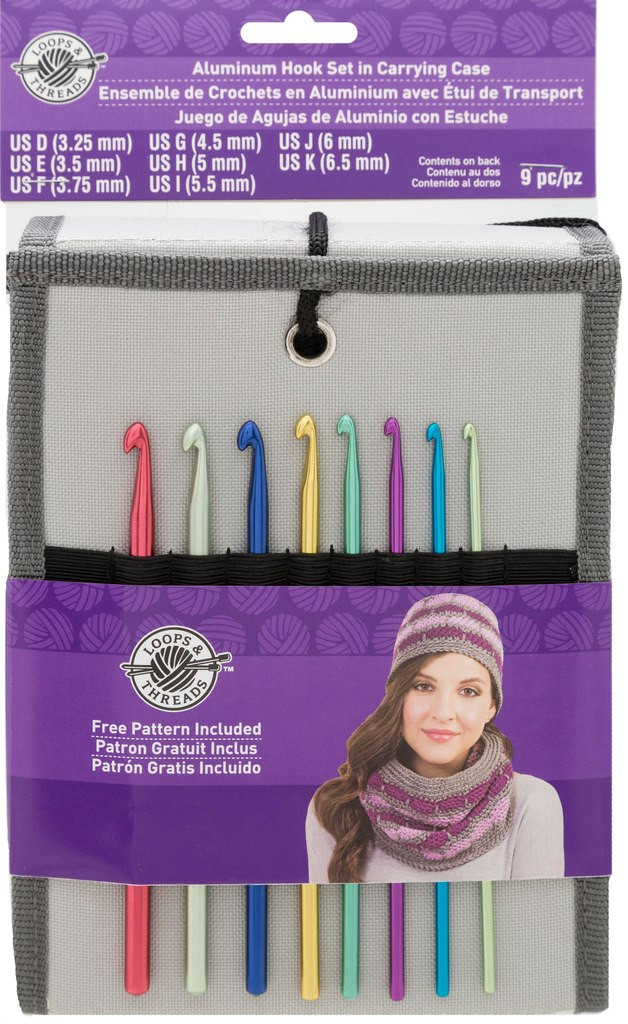 Aluminum Crochet Hook Set in Carry Case by Loops & Threads