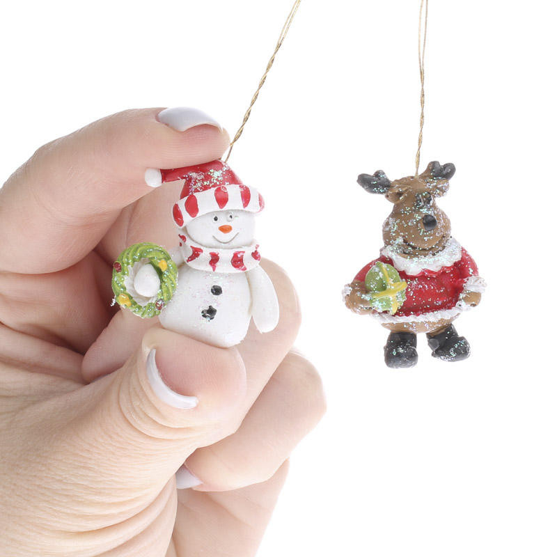 Mini Christmas ornaments Luxury Miniature Snowman and Reindeer ornaments Christmas Of Amazing 45 Pictures Mini Christmas ornaments