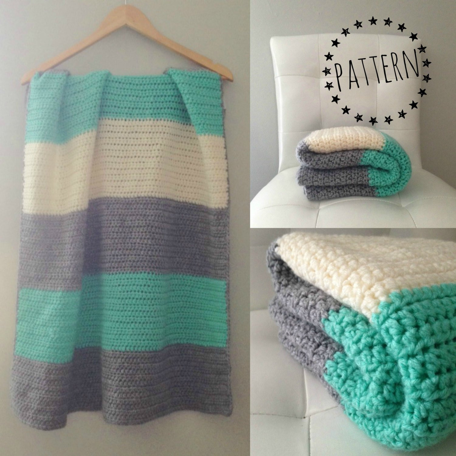 Modern Crochet Patterns Best Of Crochet Color Block Blanket Pattern Of Adorable 44 Pictures Modern Crochet Patterns