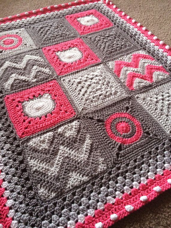 "Modern Crochet Patterns Elegant Babylove Brand ""modern Nine Patch"" Patchwork Quilt Style Of Adorable 44 Pictures Modern Crochet Patterns"