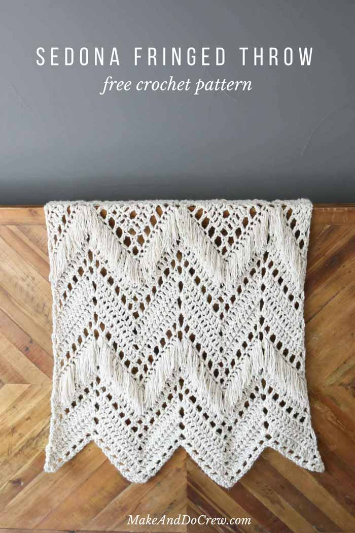 Modern Crochet Patterns Luxury Sedona Fringed Crochet Throw Free Pattern From Make & Do Of Adorable 44 Pictures Modern Crochet Patterns