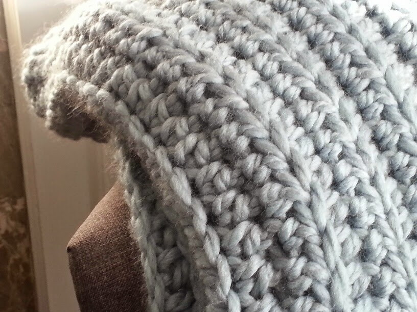 Modern Grace Design Chunky Ribbed Crochet Blanket Free
