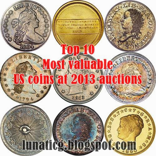 Top 10 most valuable US coins in 2013 auctions