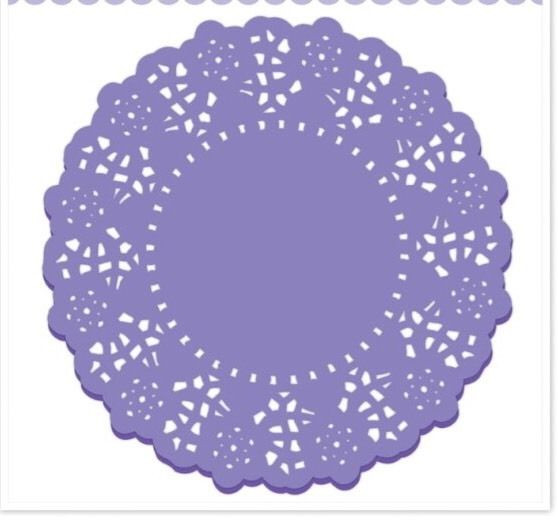 20pc 4 5 In Doodlebug Paper Lace Doilies Lilac Paper