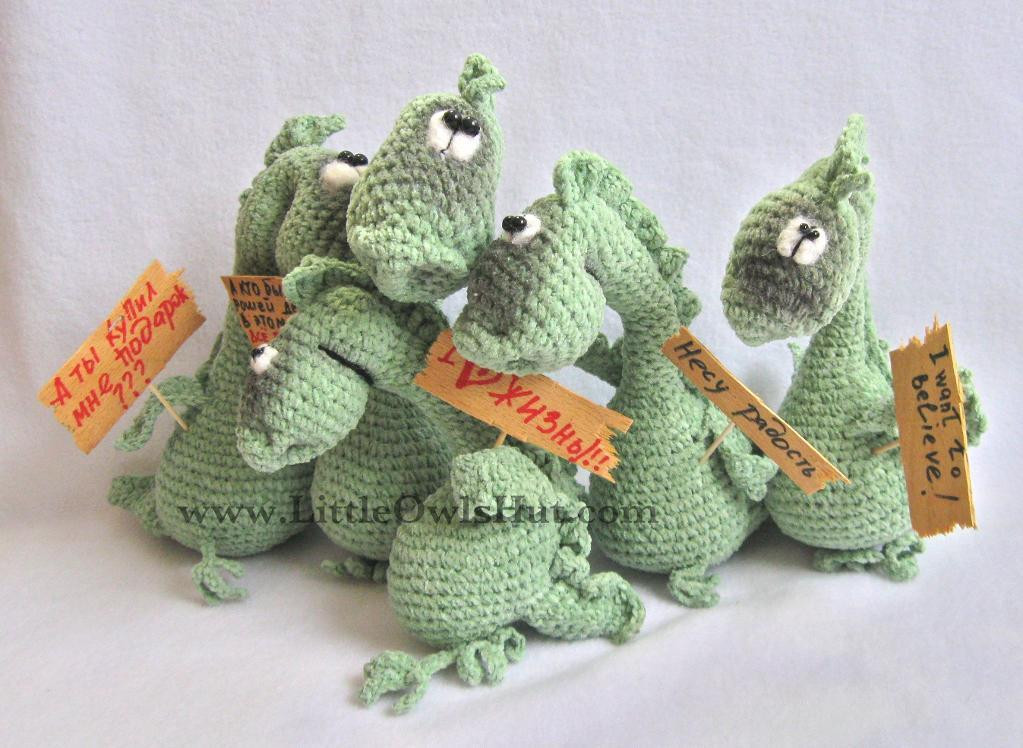 New 007 Dragon Draco Amigurumi Pertseva by Littleowlshut Craftsy Crochet Dragon Pattern Of Brilliant 50 Pictures Crochet Dragon Pattern