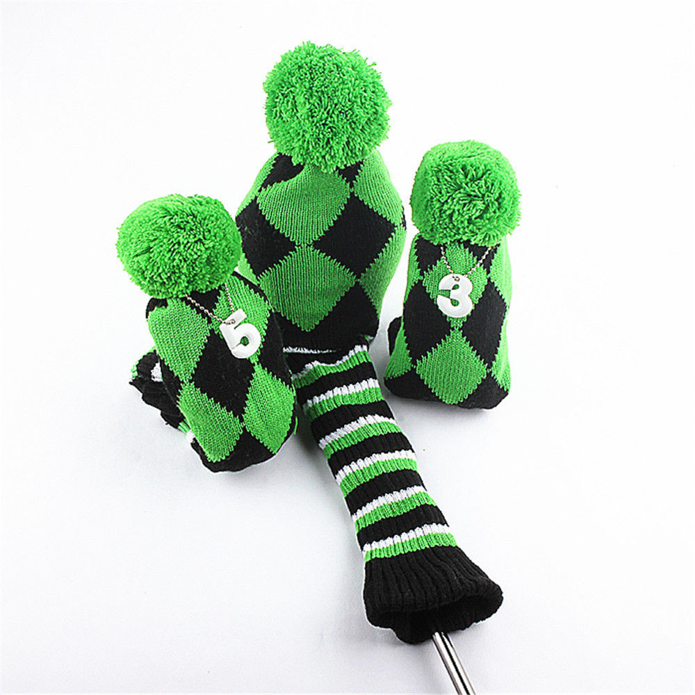 New 1 3 5 Knit Pom Green Golf Driver Fairway Wood Headcover Knit Golf Headcovers Of Innovative 47 Models Knit Golf Headcovers