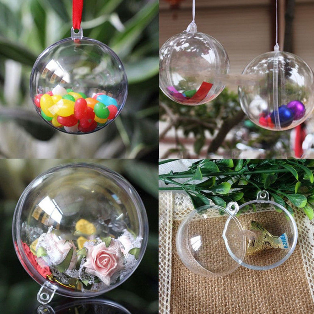 New 10 X Clear Fillable Candy Box Christmas Bauble Xmas Tree Christmas Tree Ball ornaments Of Charming 46 Ideas Christmas Tree Ball ornaments