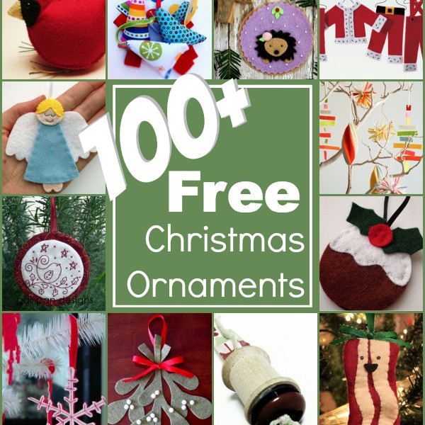 100 Christmas Ornaments The Sewing Loft
