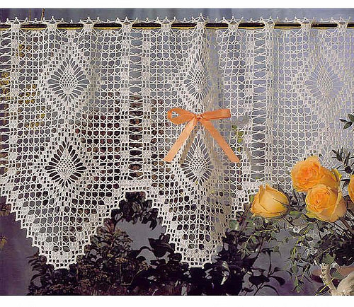 New 1000 Images About Crochet Home Decor Patterns On Free Crochet Curtain Patterns Of Attractive 50 Models Free Crochet Curtain Patterns