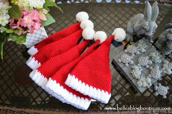 New 1000 Images About Gorros Tejidos En Pinterest Santa Hat Pattern Of Best Of Crochet Santa Hat Santa Hat Pattern
