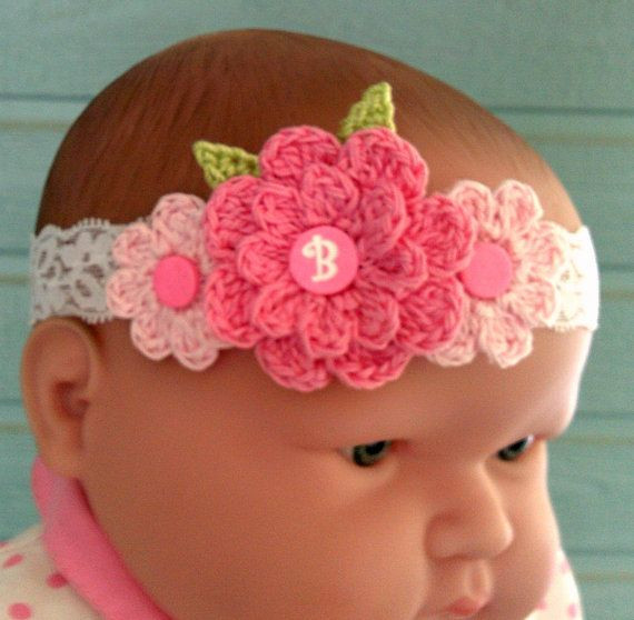 11 best images about Crocheted Flowers headbands on