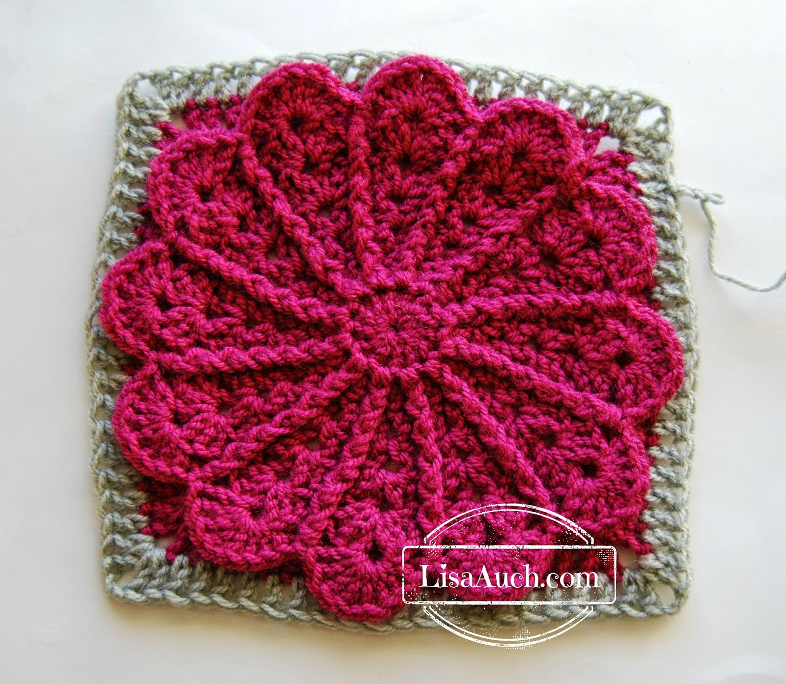 New 12 Inch Afghan Square Tutorial Pane In My Dahlia Crochet Flower Square Of Brilliant 47 Models Crochet Flower Square