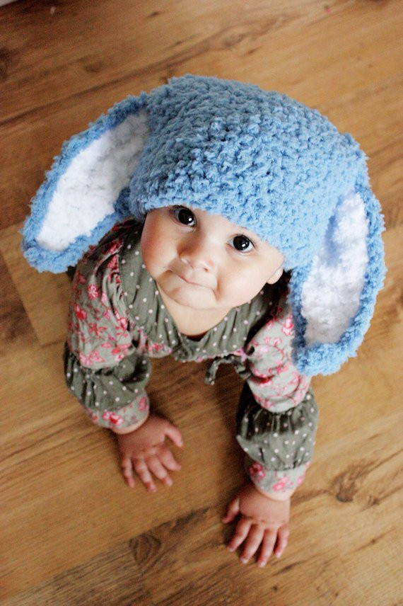 12 to 24 months bunny hat baby beanie
