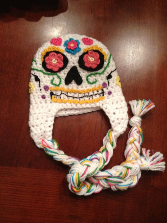 New 127 Best Crocheted Hats Images On Pinterest Crochet Sugar Skull Of Incredible 47 Pictures Crochet Sugar Skull