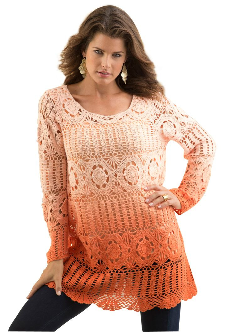 New 14 Best Ombre Images On Pinterest Plus Size Crochet Sweater Of Perfect 44 Models Plus Size Crochet Sweater
