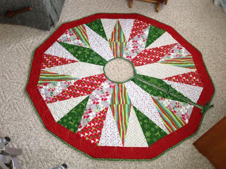 New 17 Best Images About Quilted Christmas Tree Skirt On Free Tree Skirt Patterns Of Brilliant 44 Pics Free Tree Skirt Patterns