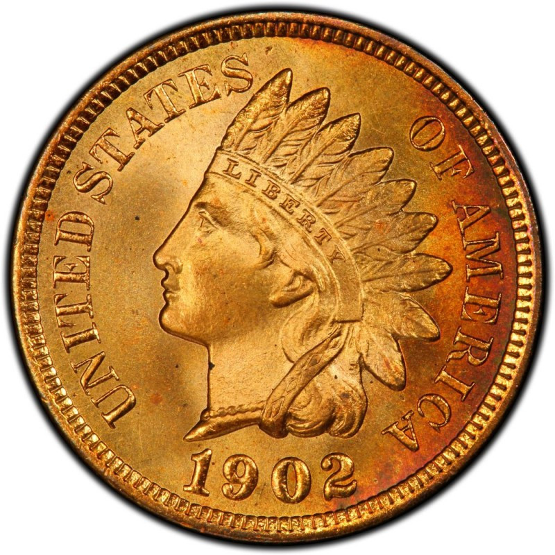 1902 Indian Head Pennies Values and Prices Past Sales