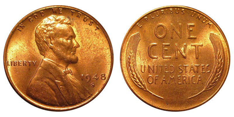 New 1948 S Lincoln Wheat Cent Bronze Posite Penny Value Wheat Penny Prices Of Adorable 50 Pics Wheat Penny Prices