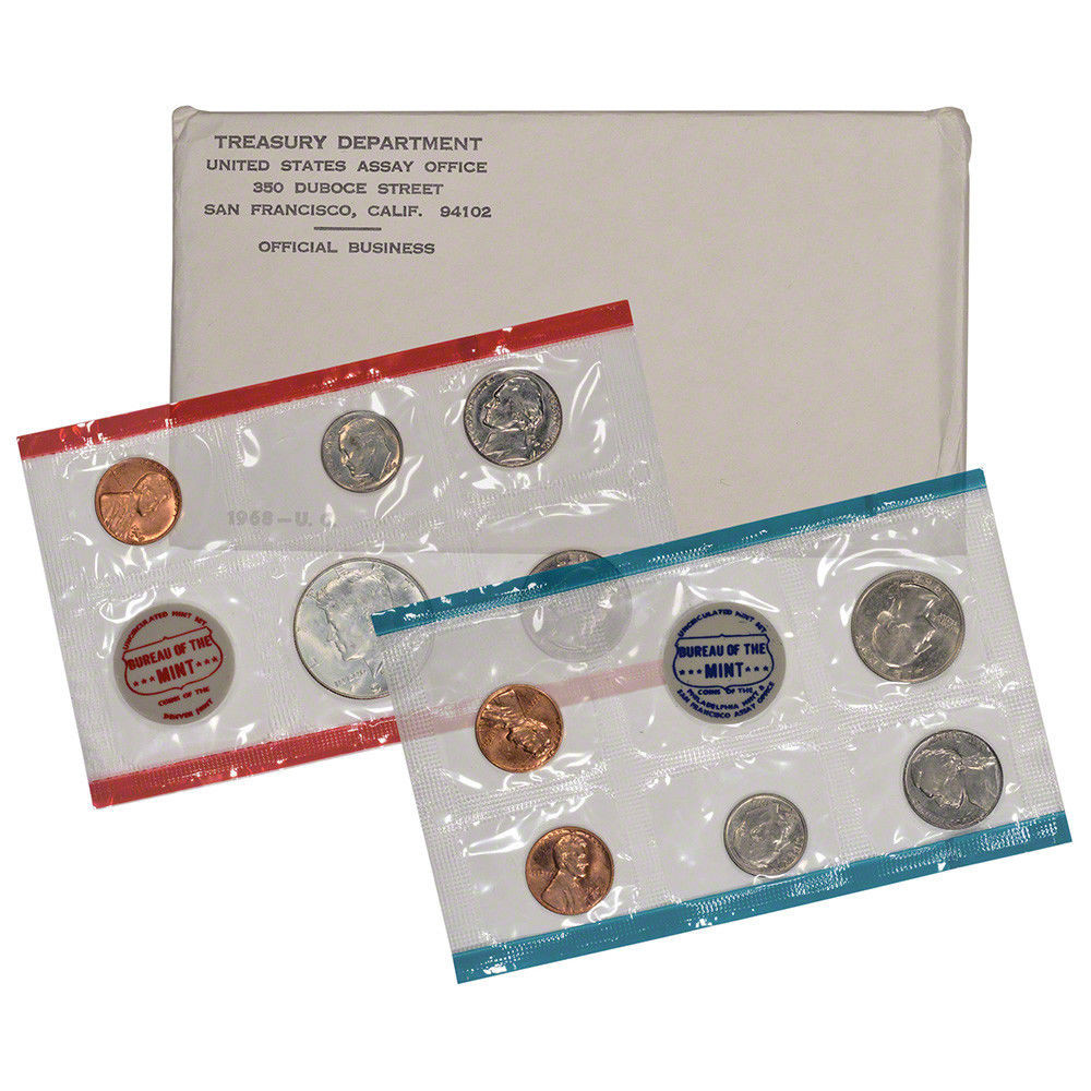 New 1968 United States Mint Uncirculated Coin Set Us Mint Sets Of Marvelous 43 Ideas Us Mint Sets
