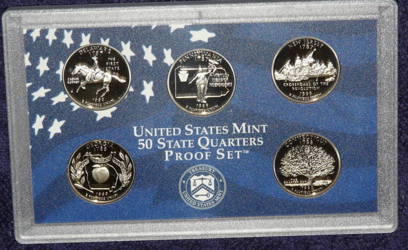 New 1999 United States Mint 50 State Quarters Proof Set State Quarter Proof Set Of Top 48 Images State Quarter Proof Set