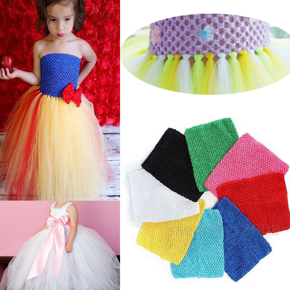 "1XPC 9"" Kids Girls Crochet Lined Tutu Tube Top for DIY"