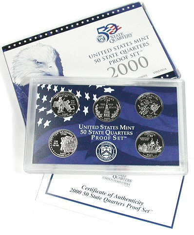 New 2000 Mint issued 5 Coin State Quarter Proof Sets State Quarter Proof Set Of Top 48 Images State Quarter Proof Set