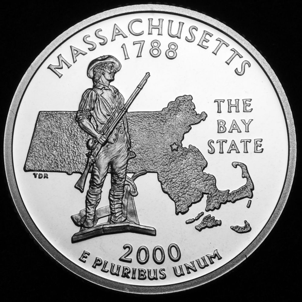 New 2000 S Massachusetts Mint Silver Statehood Washington State Quarter Set Of Superb 44 Pictures State Quarter Set
