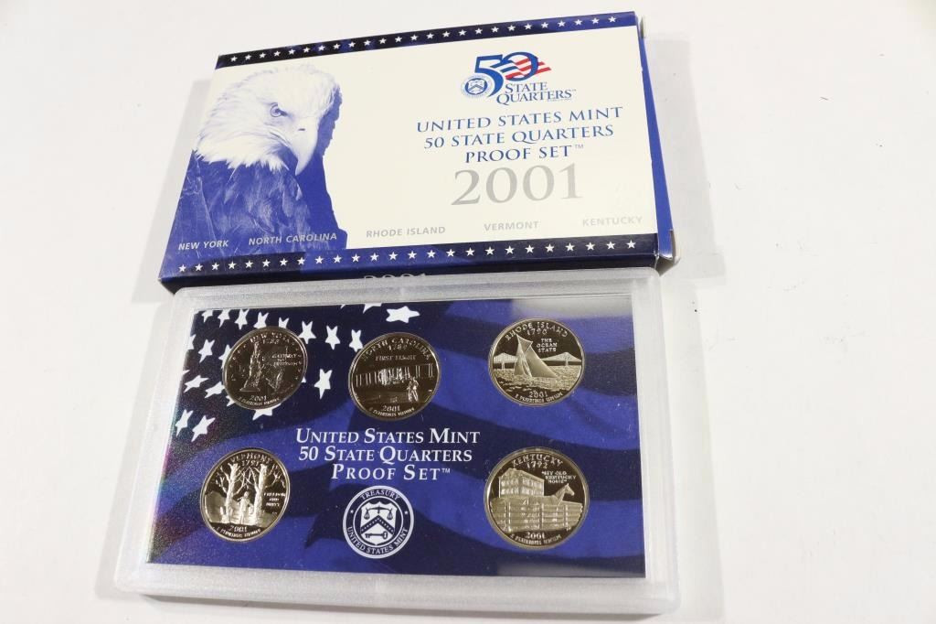 New 2001 Us 50 State Quarters Proof Set with Box State Quarter Proof Set Of Top 48 Images State Quarter Proof Set