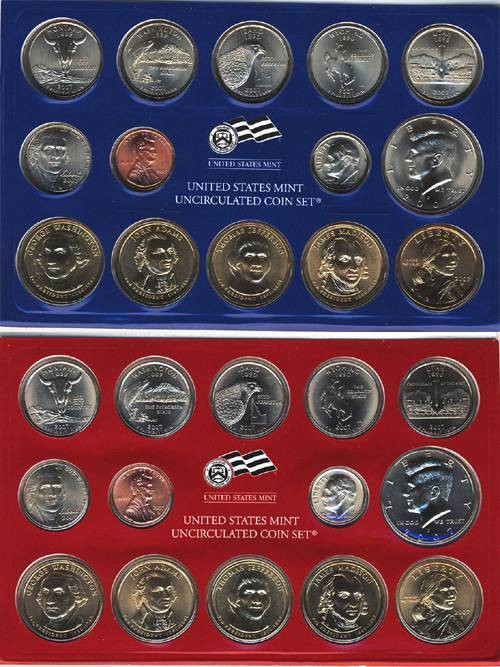 New 2007 P & D United States Mint Uncirculated Coin Set State Quarter Set Value Of New Washington 50 State Quarters Program 1999 2008 State Quarter Set Value