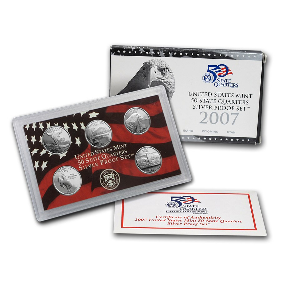 New 2007 U S Proof Set Silver Quarters Ly State Quarter Proof Set Of Top 48 Images State Quarter Proof Set