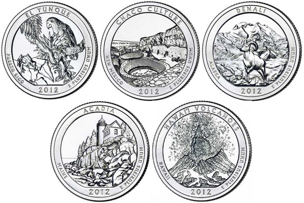 New 2012 D Denali National Park Quarter Value America the State Quarter Set Value Of New 2007 P & D United States Mint Uncirculated Coin Set State Quarter Set Value