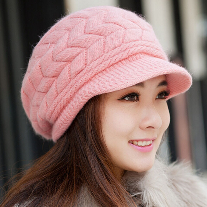 New 2015 New Women Winter Hat Knitted Hat Winter Women S Ladies Knitted Hats Of Adorable 50 Pictures Ladies Knitted Hats