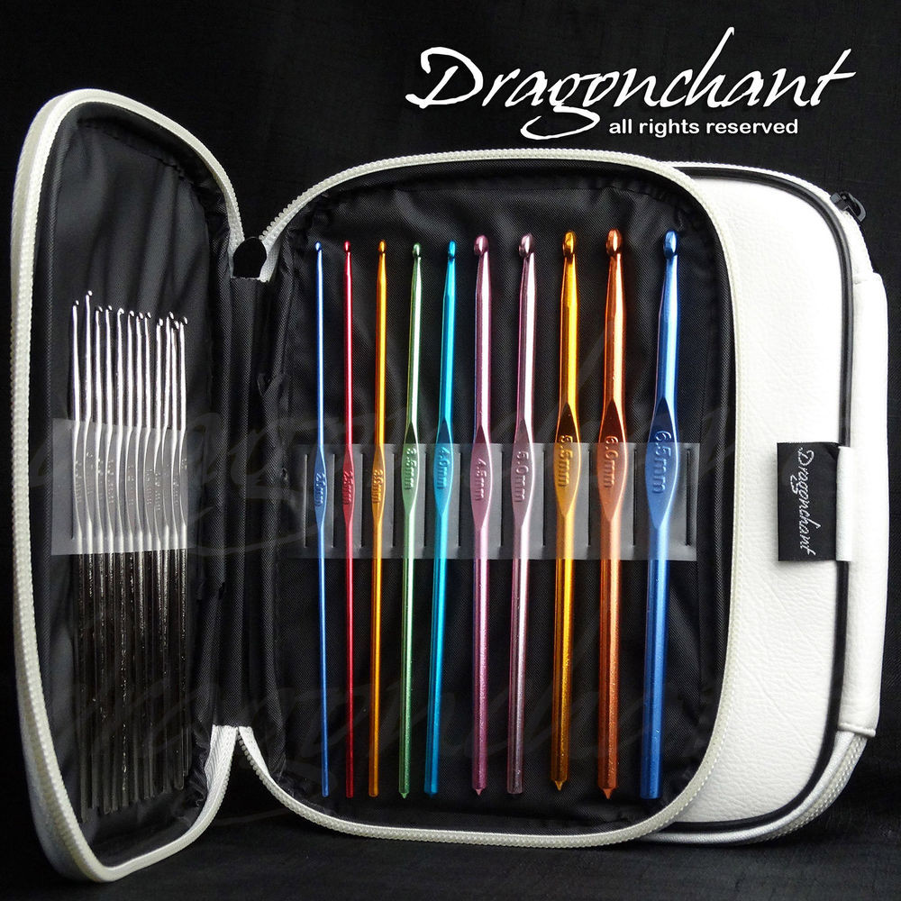 New 22pc Multi Colour Aluminum Crochet Hooks Yarn Knitting Crochet Hook Sets with Case Of Amazing 49 Images Crochet Hook Sets with Case