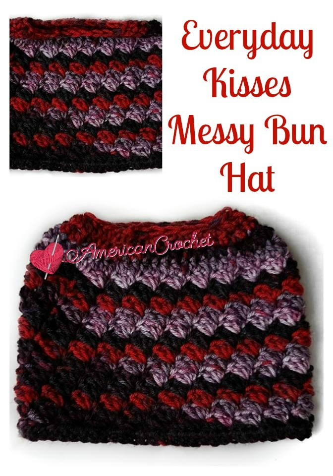 New 23 Free Messy Bun Hat Crochet Patterns Make A Ponytail Free Crochet Pattern for Messy Bun Hat Of Beautiful 47 Ideas Free Crochet Pattern for Messy Bun Hat