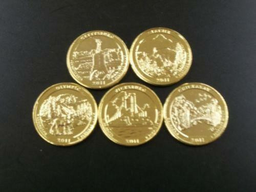 New 24k Gold State Quarters State Quarter Set Value Of Unique 5 Coins 50 State Quarters Proof Set Us Mint 2000 State Quarter Set Value