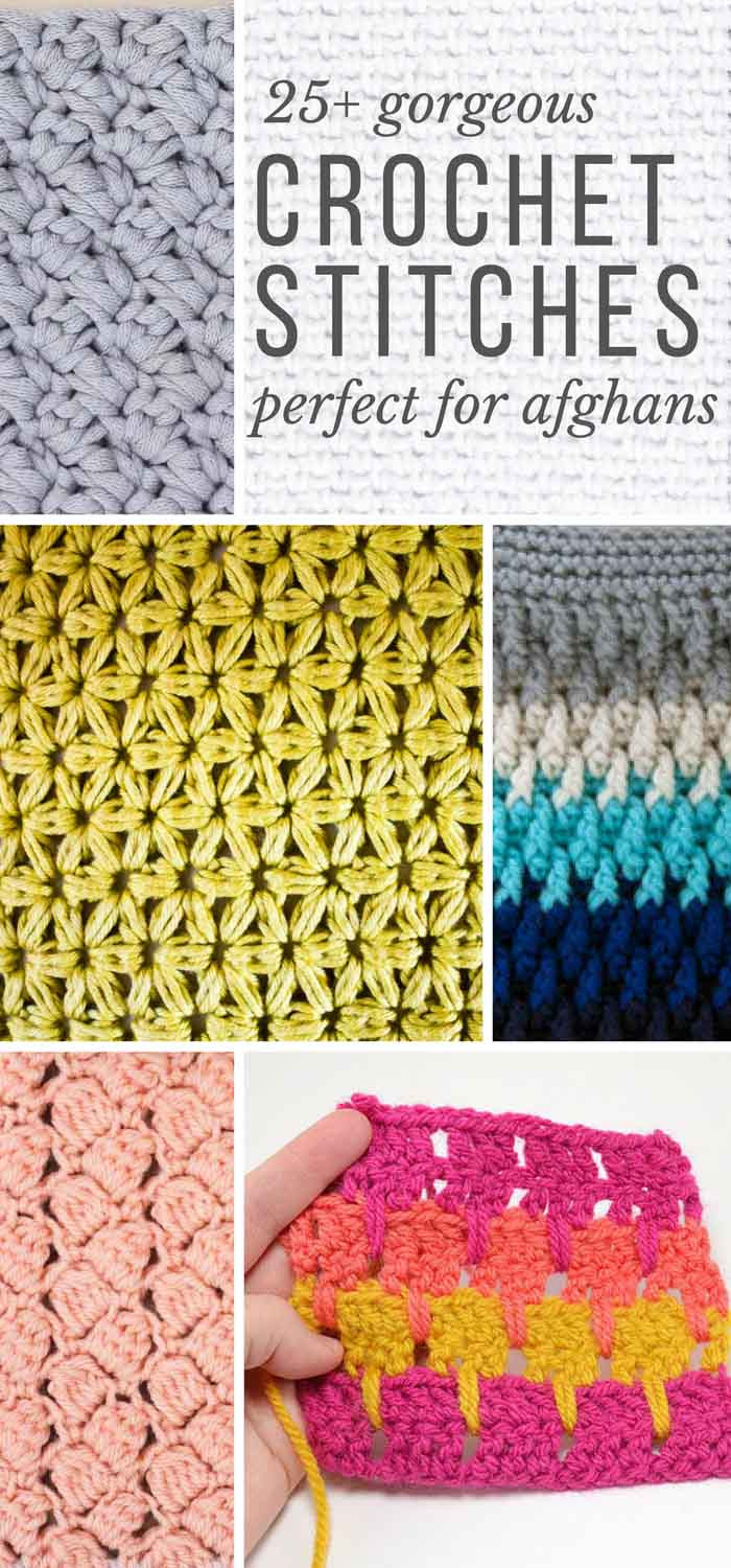 New 25 Crochet Stitches for Blankets and Afghans Make & Do Crew New Crochet Stitches Of Adorable 47 Photos New Crochet Stitches