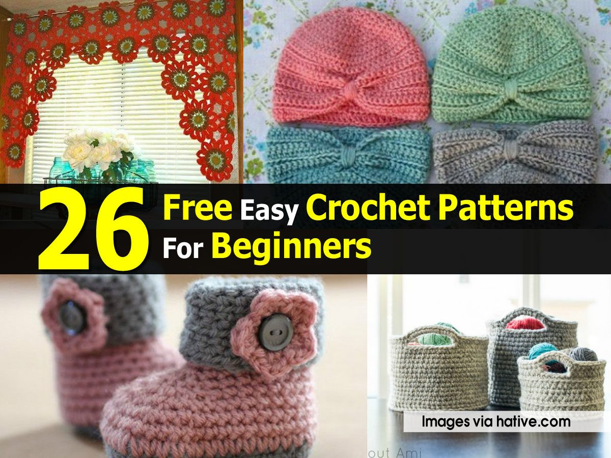 New 26 Free Easy Crochet Patterns for Beginners Easy Crochet for Beginners Of Brilliant 49 Pics Easy Crochet for Beginners