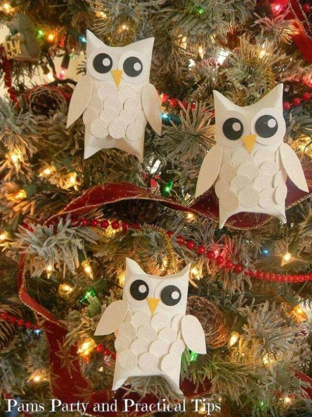 New 28 Christmas Crafts Made From toilet Paper Rolls Owl Christmas Decorations Of Delightful 49 Pics Owl Christmas Decorations