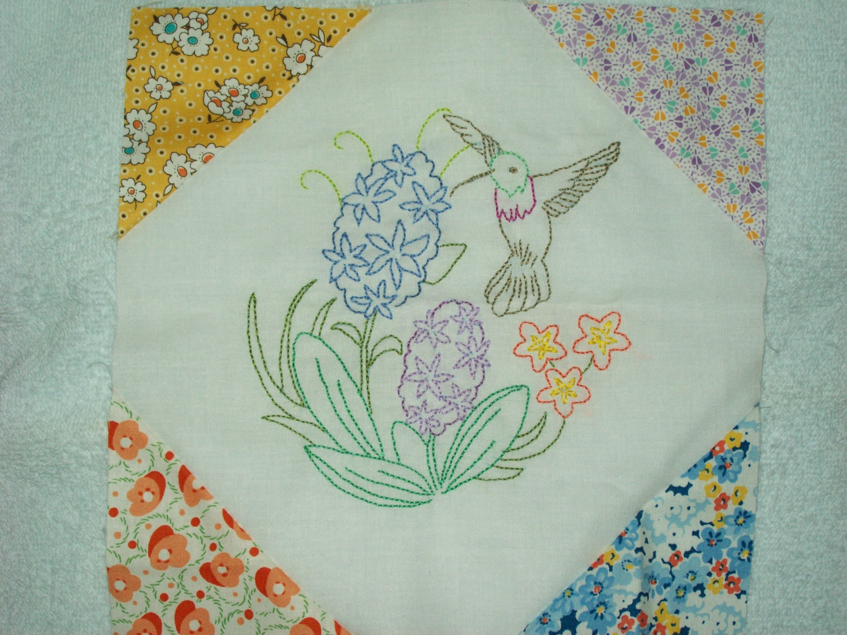 New 4 Embroidered Quilt Blocks Done to Go Embroidery Quilt Patterns Of Contemporary 50 Pictures Embroidery Quilt Patterns