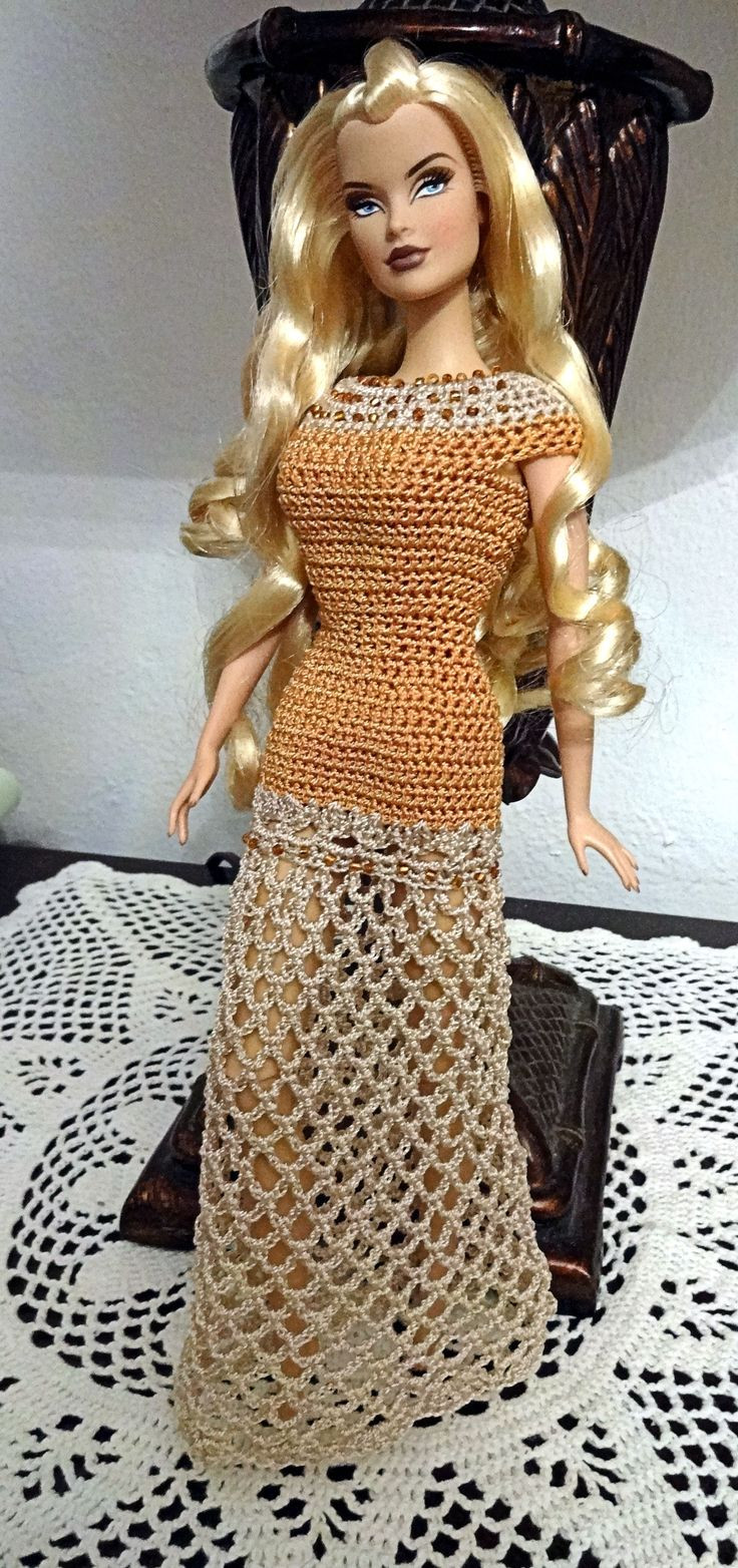 5161 best images about Barbie crochet fashions on