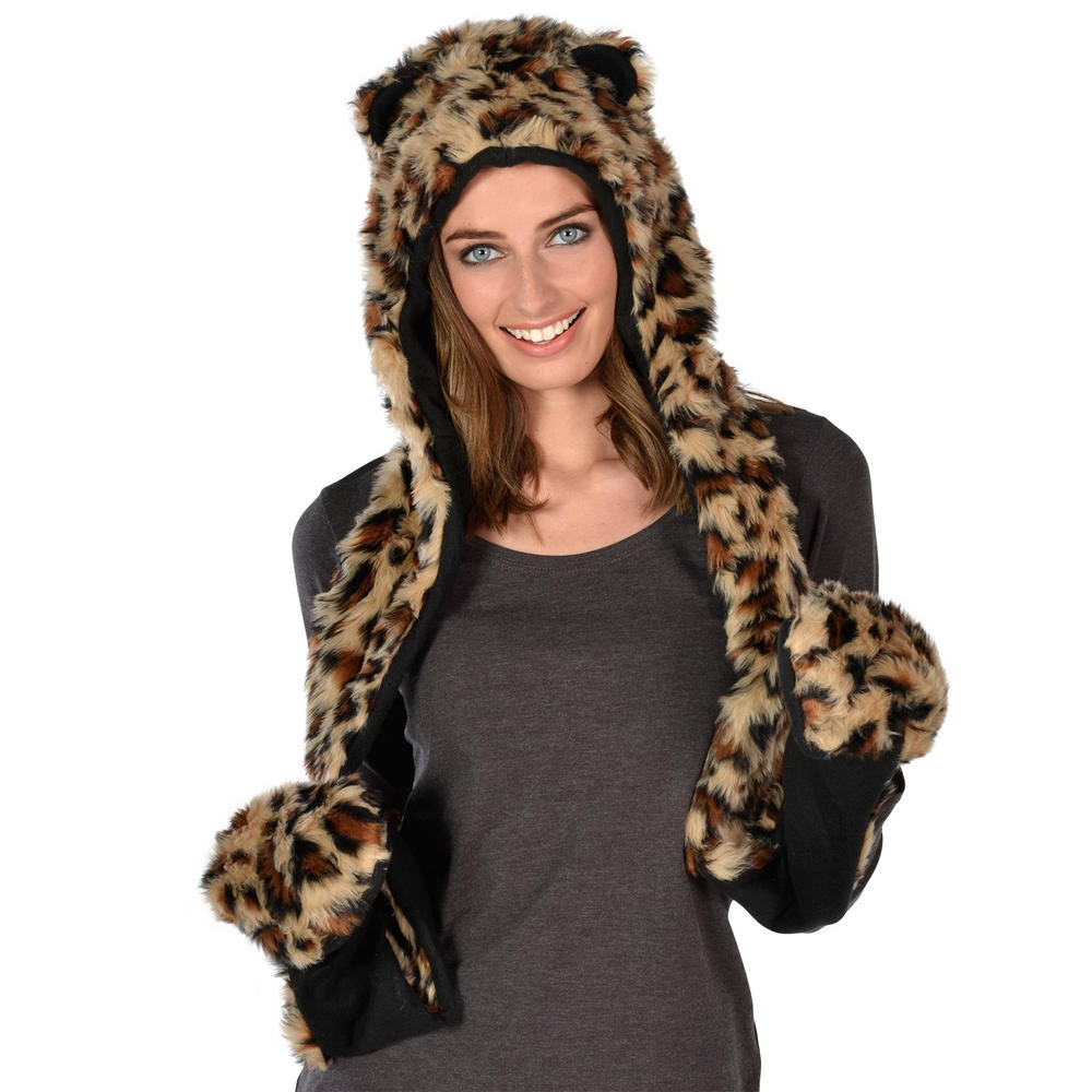 New 59 Animal Hat with Scarf and Mittens Faux Fur Wolf Hat Children's Scarves Of New 48 Pictures Children's Scarves