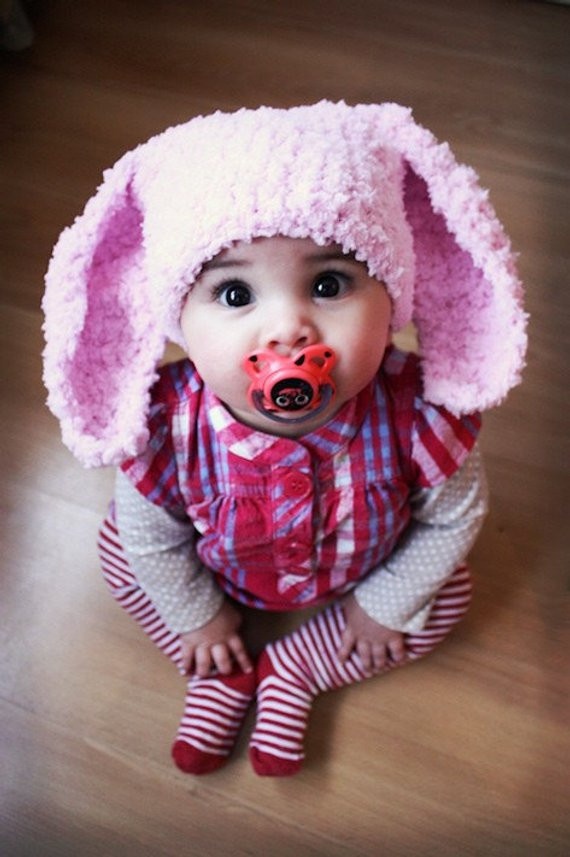 New 6 to 12m Pink Baby Bunny Hat Baby Beanie Crochet by Babamoon Crochet Bunny Hat Of Gorgeous 50 Photos Crochet Bunny Hat