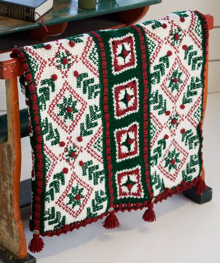65 best Free Christmas Crochet Knit Afghan Pillow Tree