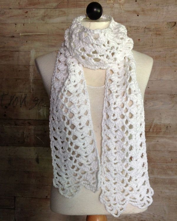 New 747 Best Images About Crochet Scarves Cowls On Pinterest Lacy Crochet Scarf Patterns Of Amazing 50 Pics Lacy Crochet Scarf Patterns